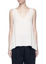 'Narcyz' V-neck silk shell top