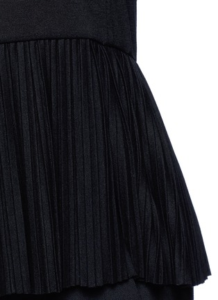 Detail View - Click To Enlarge - Theory - 'Elvnee' plissé pleat peplum jersey top