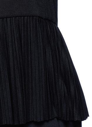 Theory-'Elvnee' plissé pleat peplum jersey top