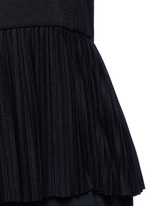 'Elvnee' plissé pleat peplum jersey top