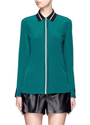 Main View - Click To Enlarge - rag & bone - 'Nico' contrast ribbon trim silk shirt