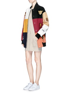 Stella McCartney 'Sabine' embroidered badge colourblock varsity jacket