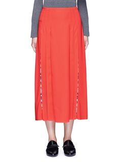 Emilio Pucci'Cady' check star print pleated maxi skirt