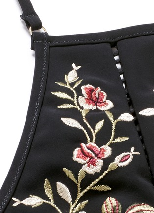 Detail View - Click To Enlarge - Zimmermann - 'Sakura' floral embroidery halterneck bikini top