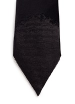 Embellished pointy silk tie