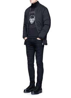 Alexander McQueen Skull print satin patch long sleeve T-shirt