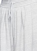 Drawstring waist wide leg jogging pants