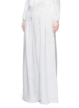 Front View - Click To Enlarge - Chloé - Drawstring waist wide leg jogging pants