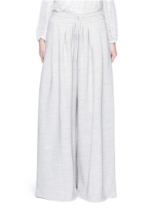 Main View - Click To Enlarge - Chloé - Drawstring waist wide leg jogging pants