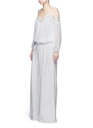 Figure View - Click To Enlarge - Chloé - Drawstring waist wide leg jogging pants