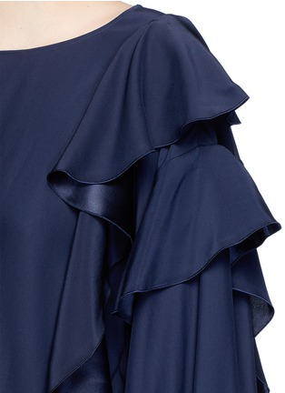 Detail View - Click To Enlarge - Lanvin - Drawstring waist ruffle silk top