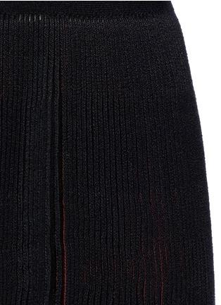 细节 - 点击放大 - ALAÏA - Seguidille拼色百褶混羊毛连衣裙