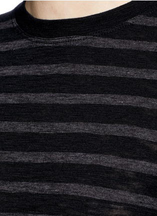 Detail View - Click To Enlarge - Vince - Stripe cotton jersey T-shirt