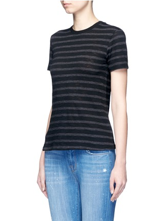 Front View - Click To Enlarge - Vince - Stripe cotton jersey T-shirt