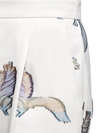 Emilio Pucci-Feather fil coupé wide leg pants