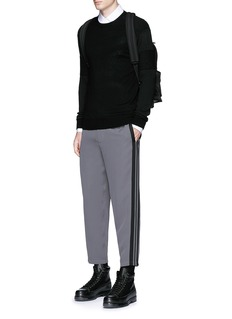 Alexander McQueen Side stripe cropped jogging pants