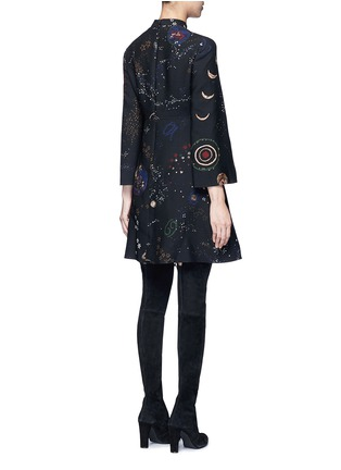 Back View - Click To Enlarge - Valentino - Cosmos print Crepe Couture dress