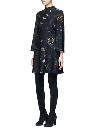 Figure View - Click To Enlarge - Valentino - Cosmos print Crepe Couture dress
