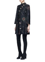 Cosmos print Crepe Couture dress