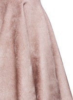 Velour knit flare skirt
