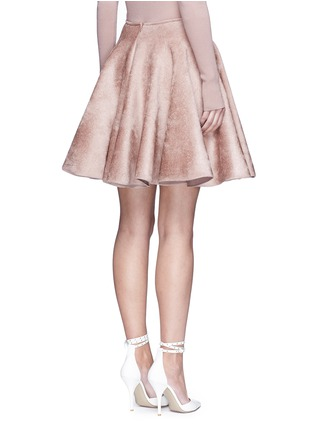 Back View - Click To Enlarge - Alaïa - Velour knit flared skirt