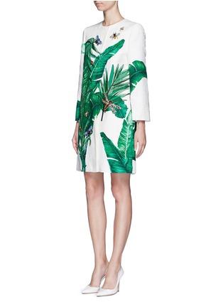模特儿示范图 - 点击放大 - DOLCE & GABBANA - 香蕉叶昆虫刺绣珠饰大衣