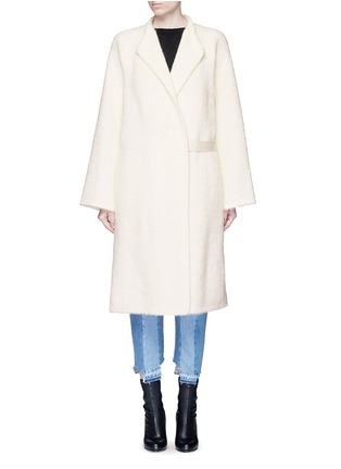 Helmut Lang - Shaggy alpaca-virgin wool long coat