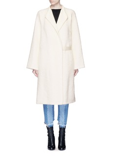 Helmut Lang Shaggy alpaca-virgin wool long coat