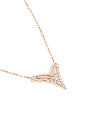Figure View - Click To Enlarge - Messika - 'Queen V PM' diamond 18k rose gold necklace
