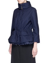 'Paqueline' floral lace hooded jacket