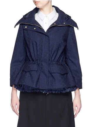 Main View - Click To Enlarge - Moncler - 'Paqueline' floral lace hooded jacket