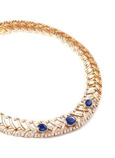Mellerio Diamond Mellerio cut sapphire 18k yellow gold necklace