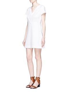 SEE BY CHLOÉPompom trim cotton poplin T-shirt dress