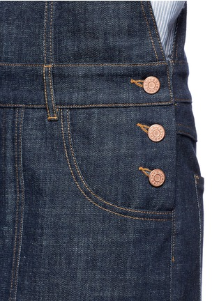 Detail View - Click To Enlarge - See by Chloé - Stripe knit trim denim romper