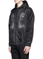 Barb wire Jesus print windbreaker jacket