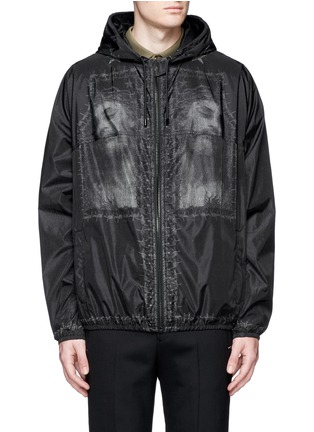 Main View - Click To Enlarge - Givenchy - Barb wire Jesus print windbreaker jacket