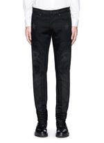 Barb wire Jesus print slim fit jeans