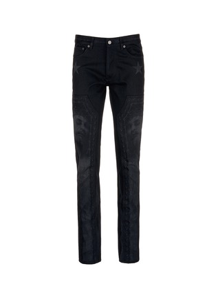 Main View - Click To Enlarge - Givenchy - Barb wire Jesus print slim fit jeans