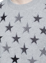 Star embroidery cotton sweatshirt
