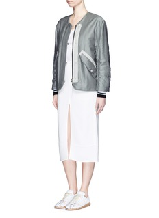 RAG & BONE 'Range' contrast trim padded satin bomber jacket