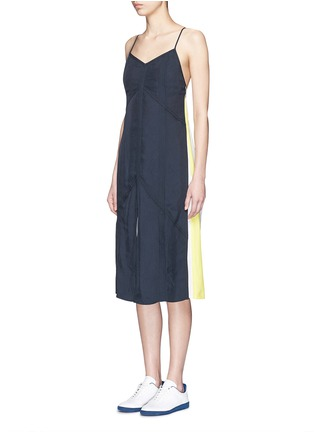 Front View - Click To Enlarge - rag & bone - 'Parachute' colourblock drape twill dress