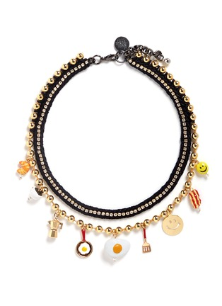Main View - Click To Enlarge - Venessa Arizaga - 'Breakfast Club' necklace