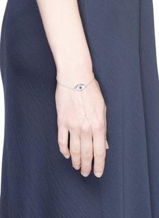 Delfina Delettrez 'Watch My Hand' diamond 18k yellow gold finger link bracelet