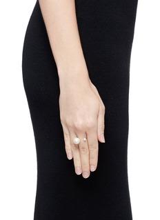 Delfina Delettrez'Pearl Piercing' diamond 18k yellow gold ring