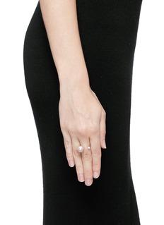 Delfina Delettrez'Pearl Piercing' diamond 18k white gold ring