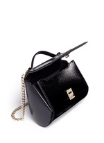 'Pandora Box' mini saffiano patent leather chain bag