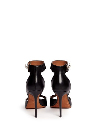 Back View - Click To Enlarge - Givenchy - Shark tooth turn lock leather sandals