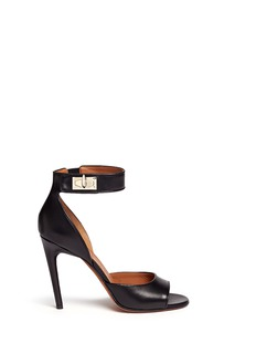 Givenchy Shark tooth turn lock leather sandals
