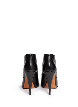 Back View - Click To Enlarge - Givenchy - 'Pure' lace-up leather booties