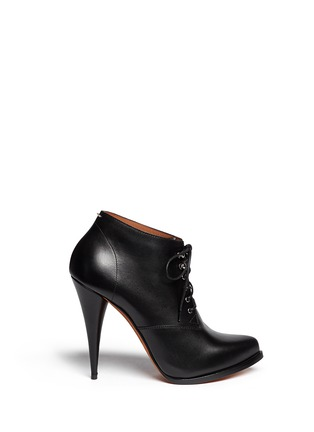 Main View - Click To Enlarge - Givenchy - 'Pure' lace-up leather booties